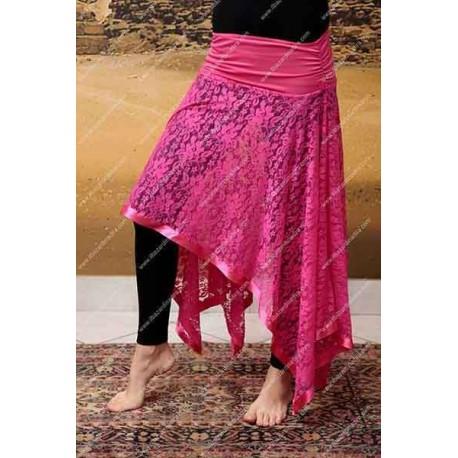 detailed look d33df 72773 Sopragonna pizzo fuxia - Il Bazar di Nadira - Abbigliamento e accessori di  Danza del Ventre